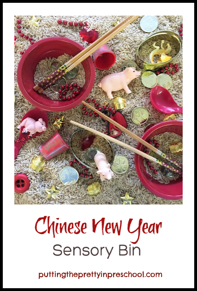 Chinese New Year 2019 Rice Sensory Bin