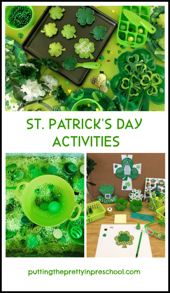 St. Patrick's Day activities for the early childhood classroom.