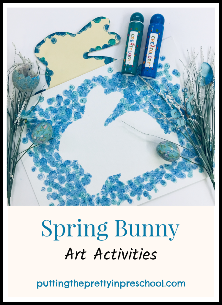 Spring bunny Art activities suitable for all ages.