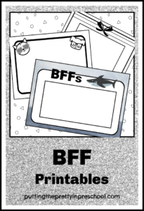 Best Friends Forever printables for drawing friends and self portraits.