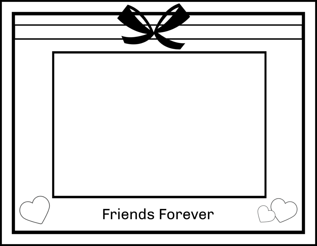 Friends Forever printable. A great keepsake for the end of the school year.