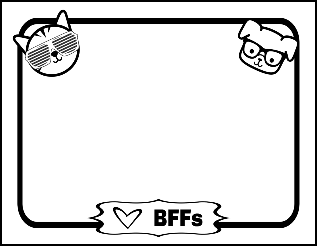 Besy Friends Forever pet themed printable. A great keepsake for the end of the school year.
