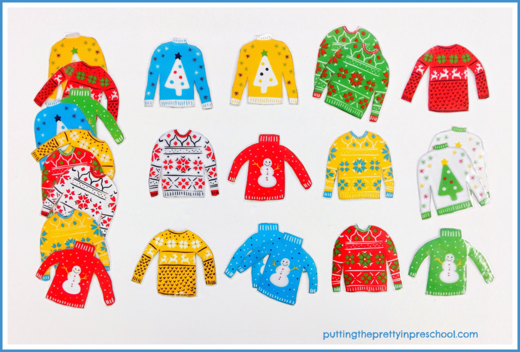 Ugly Christmas sweater memory game.