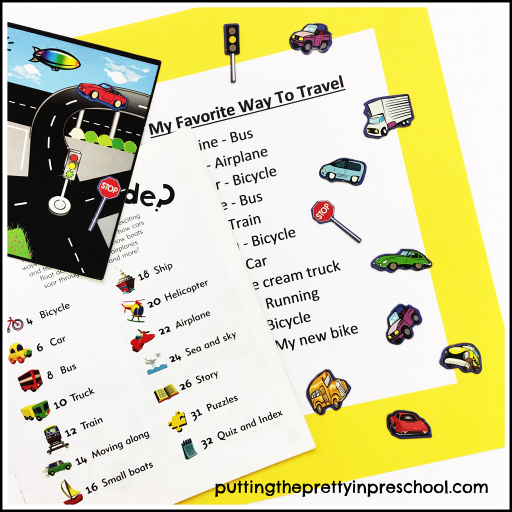 """My Favorite Way To Travel"" chart."