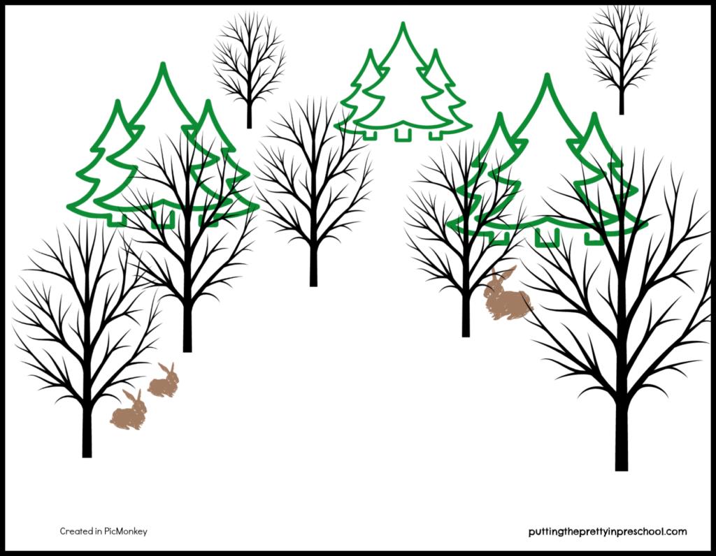 Winter Forest Play Mat
