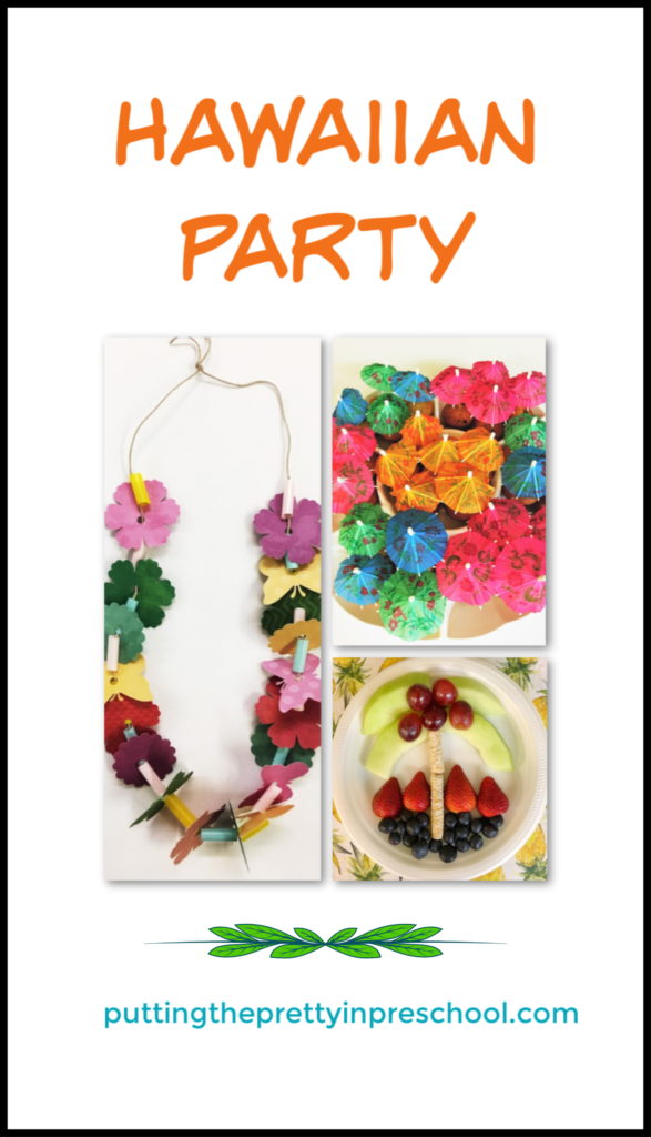 Hawaiian party ideas for an all-ages get together. Food, crafts, songs, and music for an easy to manage get together.