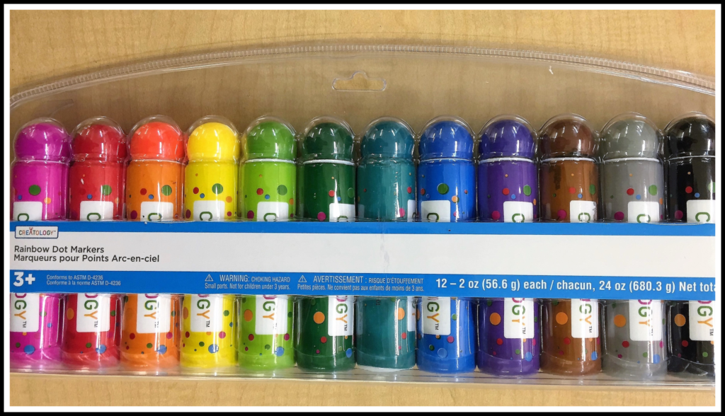 Creatology Rainbow Dot Markers are non-toxic and come in many colors.