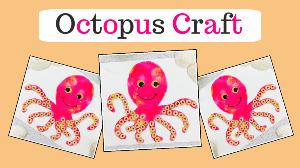 Octopus craft using taste safe ingredients.