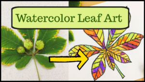 Watercolor resist leaf art video tutorial.