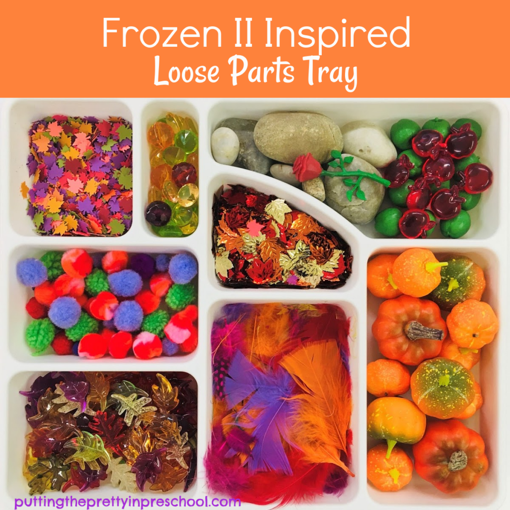 Frozen 2 inspired loose parts tray.