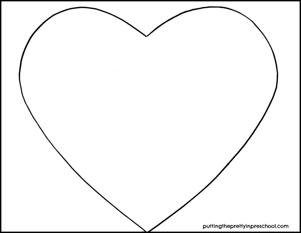 Heart printable for art and craft projects.
