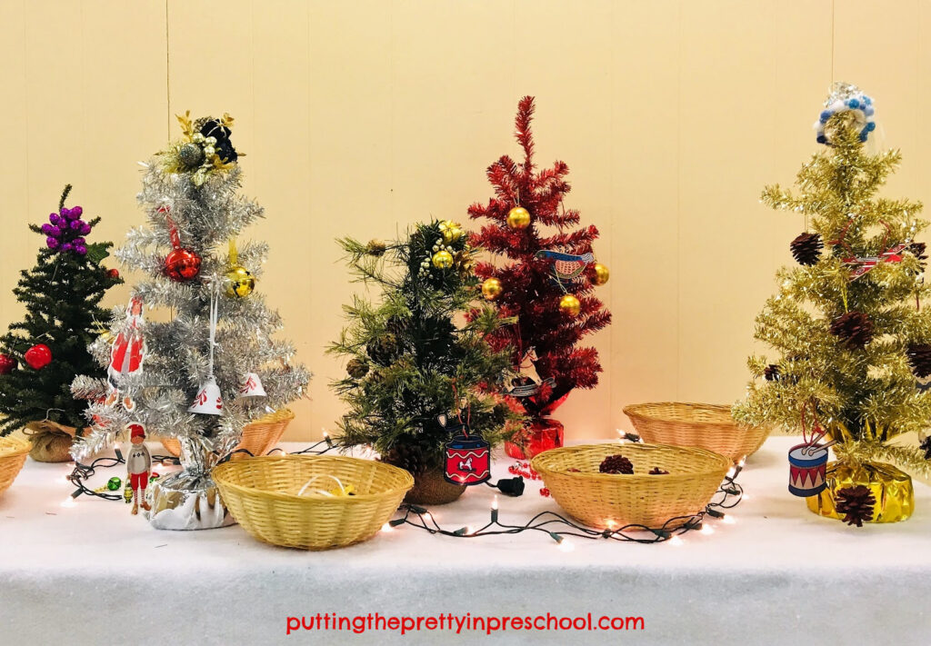 Christmas Tree Decorating Center Putting The Pretty In Preschool