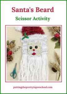 Super fun Santa's beard scissor skill activity. Scissor use tips and guidelines are included.