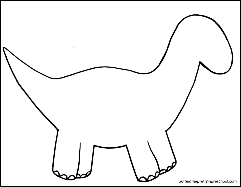 Dinosaur template to use for a dinosaur-themed craft.