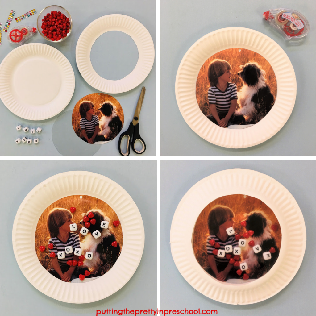 Steps to create a personalized paper plate ocean drum.
