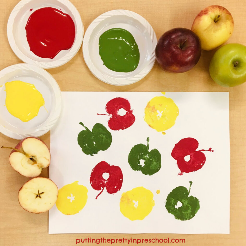 Fun and easy printmaking with apples.